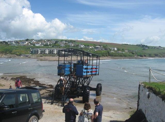 "The ""Sea Tractor"" Burgh Island"