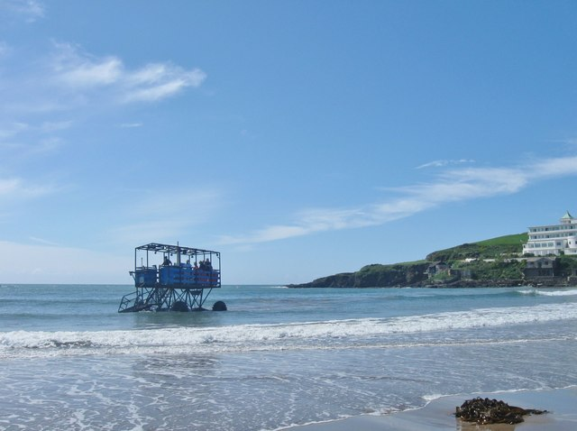 "Burgh Island and the ""Sea Tractor"""