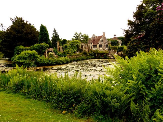 Remains of the original Scotney Castle https://www.nationaltrust.org.uk/scotney-castle