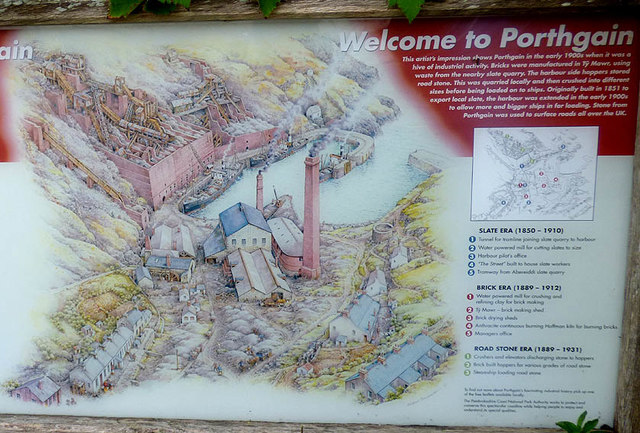 Artists impression of Porthgain