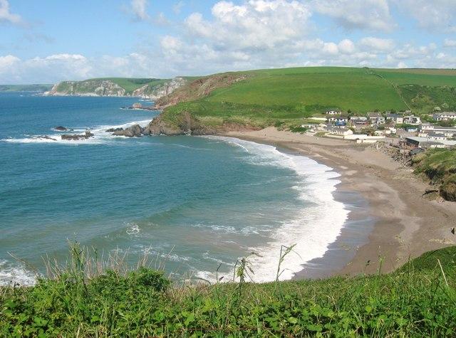 Challaborough Bay, Devon, From the  SW coastal path