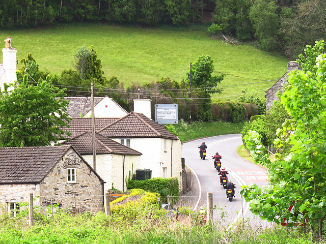 Motorcyclists at Pentrefelin