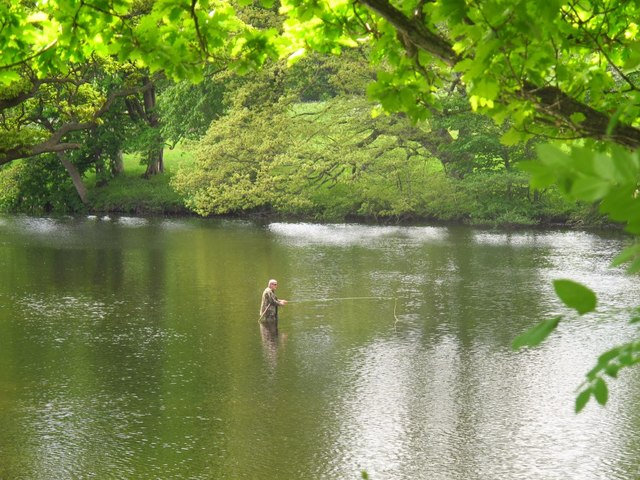 Fisherman in the River Dee