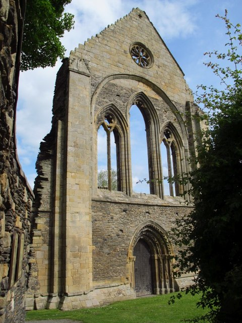Valle Crucis Abbey - west end of the nave
