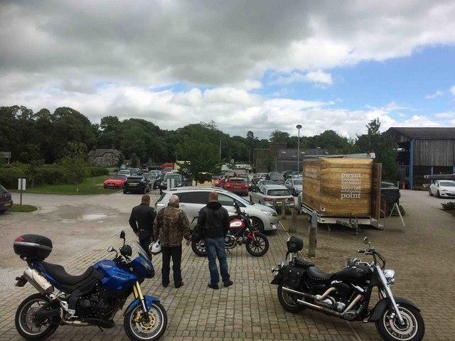 Rhug farm shop car park
