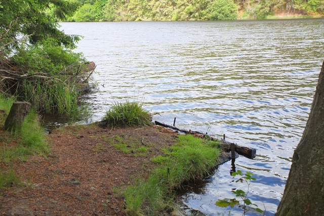 Fishing stance, Edgelaw Reservoir