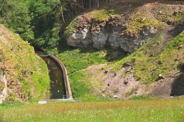 Downstream from Edgelaw dam