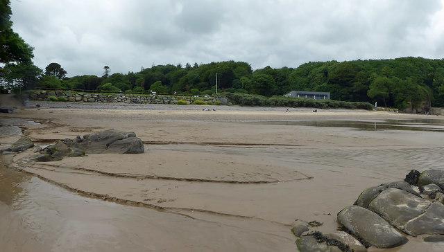 Centre right is Coast restaurant Saundersfoot