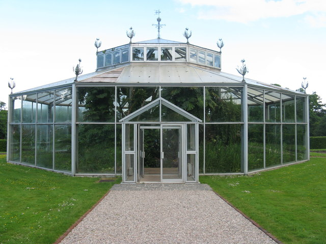 Glasshouse in the kitchen garden at Mount Stuart