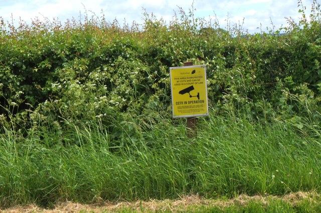 CCTV notice near Dalhousie