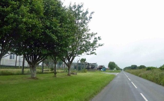 Merrion military camp entrance ahead