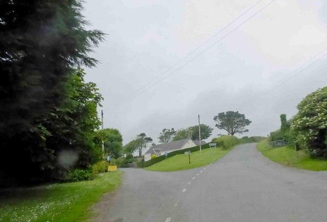 Road junction Warren village
