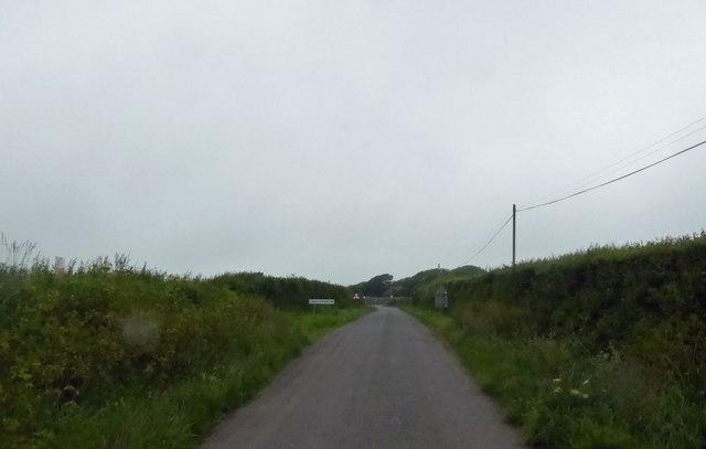 Castlemartin village ahead
