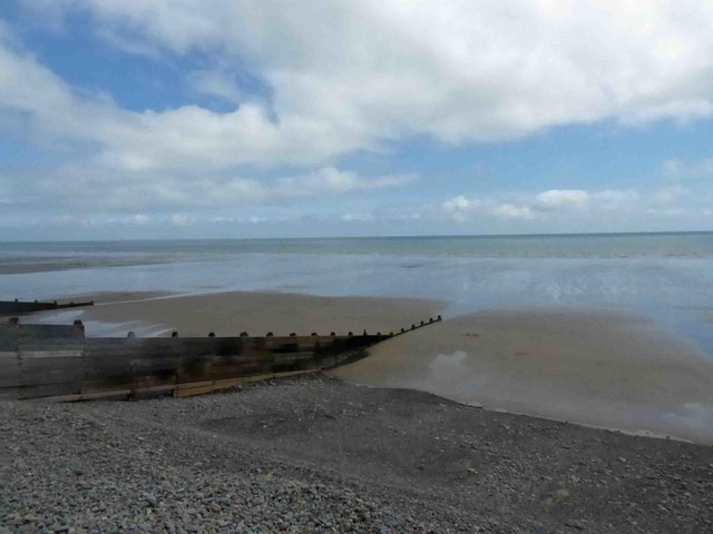 Tides out at Amroth