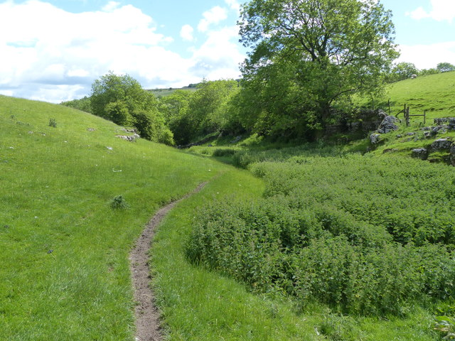 The Limestone Way approaching Cales Dale