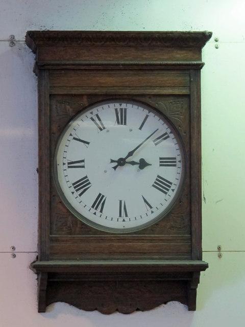 Clock inside Arsenal tube station