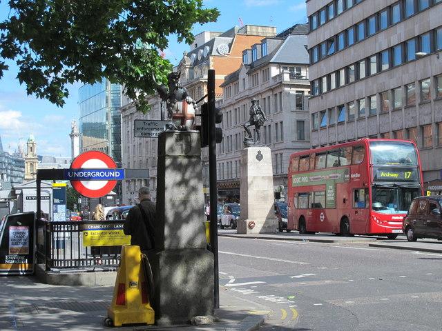Entrance to Chancery Lane tube station, Holborn / Gray's Inn Road, EC1