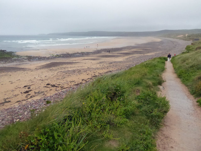 Access path to Freshwater West beach