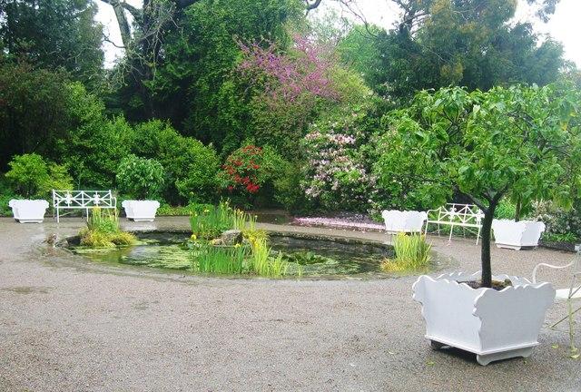 Ornamental garden at Saltram House