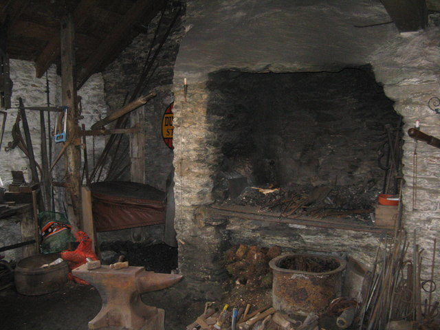 The forge in Strachur Smiddy Museum