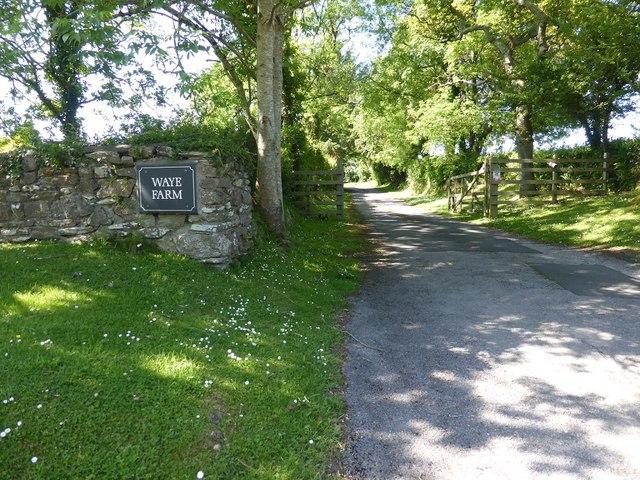 The entrance to Waye Farm, between Yealmbridge and Modbury