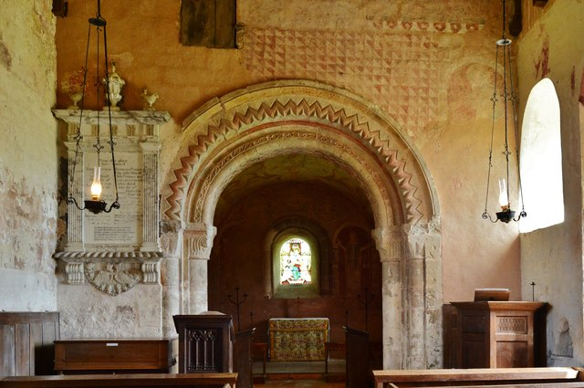 Kempley, St. Mary's Church: The Norman chancel arch