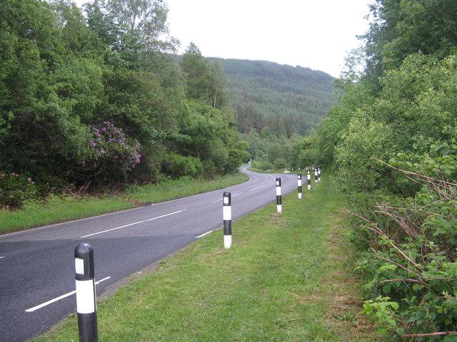 The A815 at Rashfield