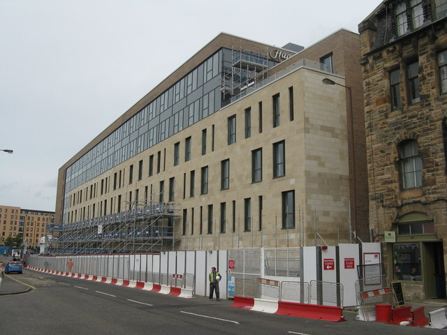Building progress on Fountainbridge