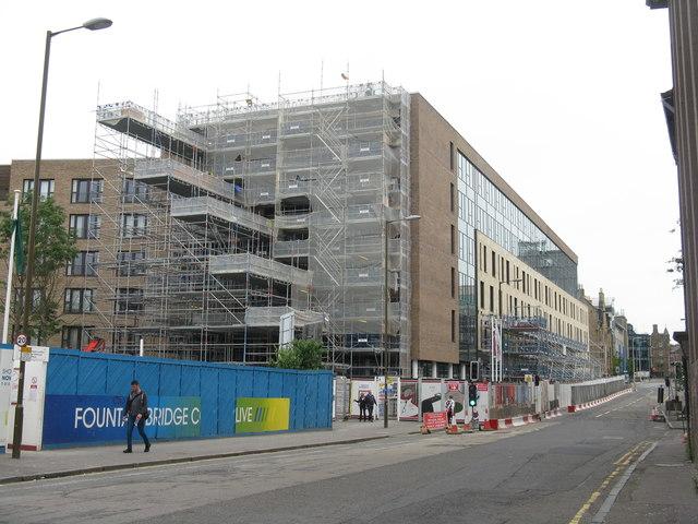 Building site at Fountainbridge
