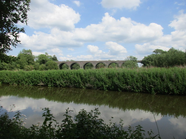 The Oxford Canal and Aynho Viaduct