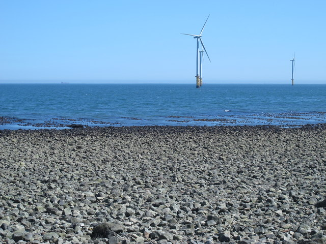 Rocks exposed at low tide east of the South Gare Breakwater (4)