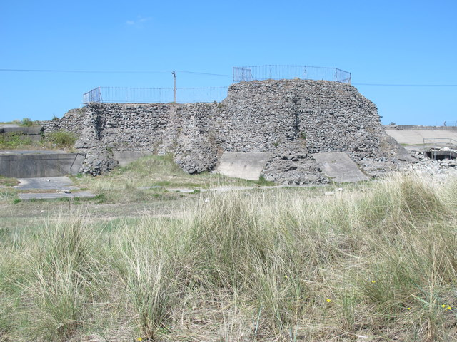 Derelict fortifications on the South Gare Breakwater