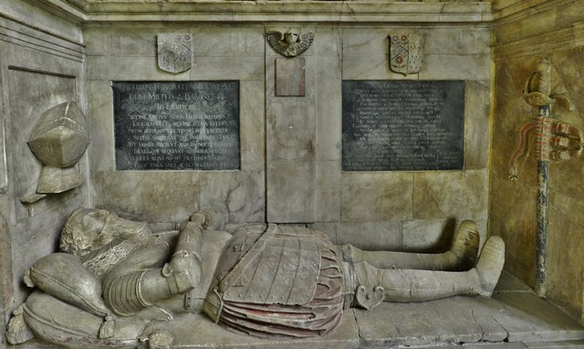 Hanwell, St. Peter's Church: Sir Anthony (d.1614) and Lady Cope memorial 3