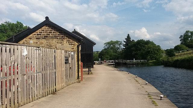 CRT depot at Dobson Locks