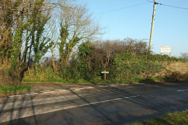 Junction near Gorran Churchtown