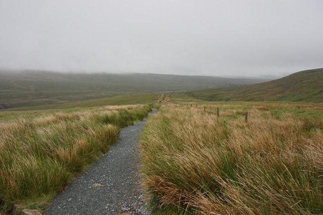 10-16am, path towards Slack Hill