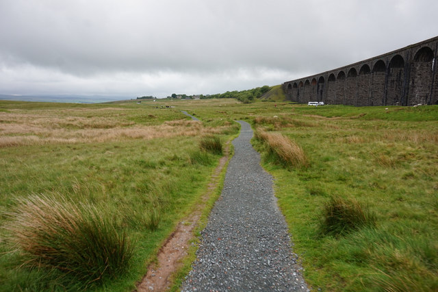 10-57am path at Ribblehead Viaduct