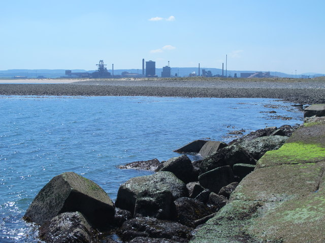The east side of the South Gare Breakwater