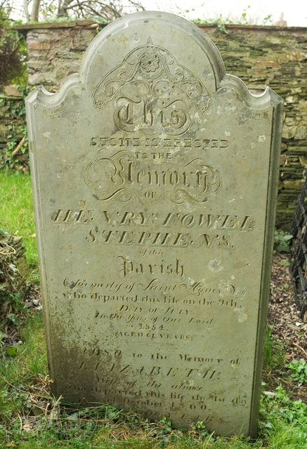 Gravestone, Church of St Petroc, Egloshayle