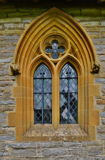 Besford, St.Peter's Church: Victorian south window 1