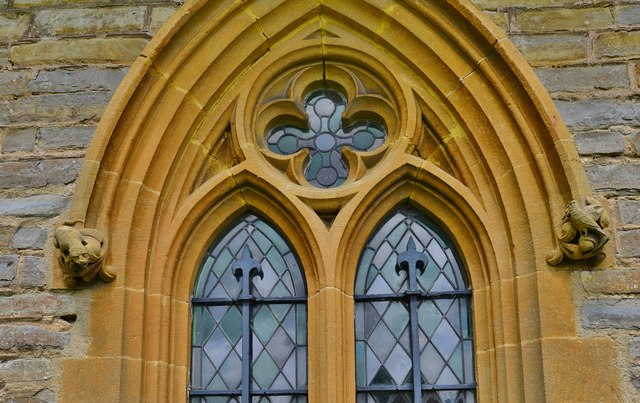 Besford, St.Peter's Church: Victorian south window 2