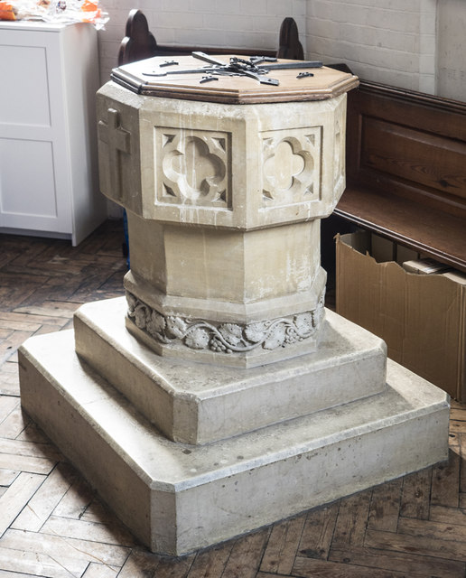 All Souls, St Margarets on Thames - Font