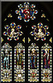 TL4192 : St Peter, Wimblington - Stained glass window by John Salmon