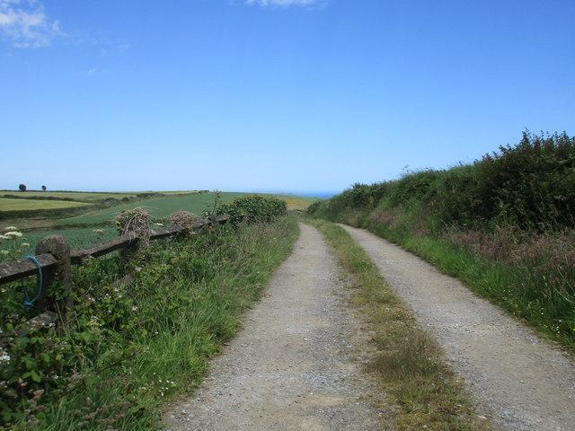 Farm track at Doonavanig