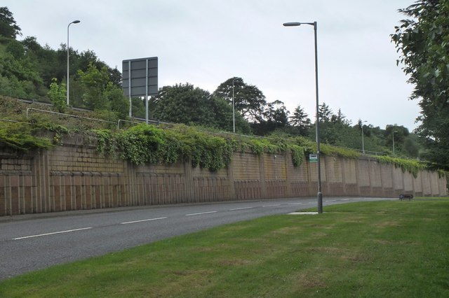 Retaining wall, Melrose Bypass