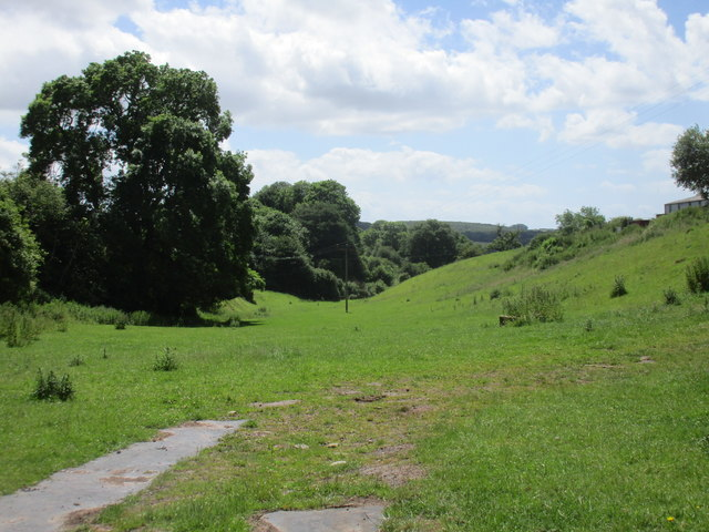 Valley below Abenhall church
