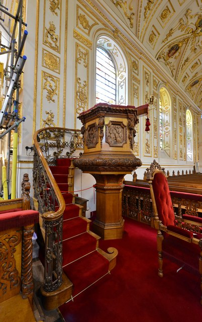 Great Witley, St. Michael's Church: The Victorian pulpit 1