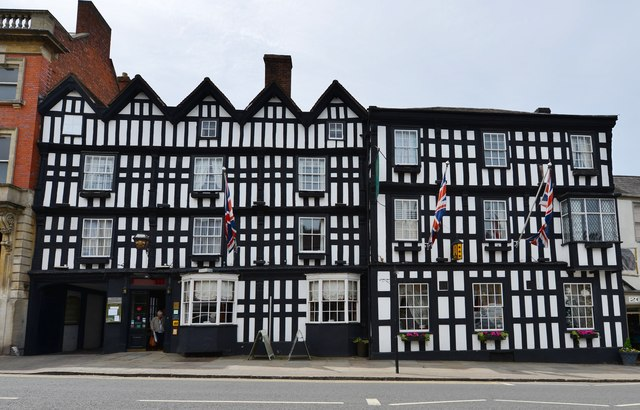 Ledbury High Street: The famous Feathers Hotel