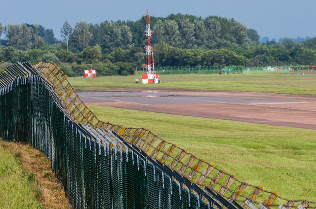 RAF Fairford perimeter fence