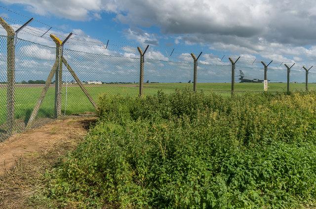 RAF Fairford perimeter fence